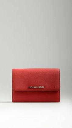 Red leather smartphone crossbody bag