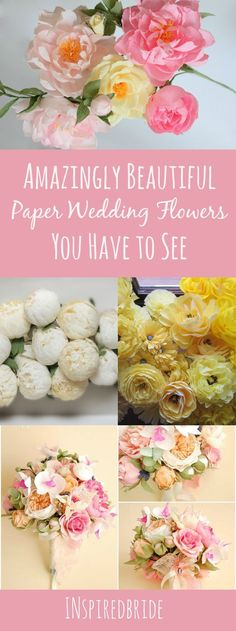 DIY Wedding Paper Flower that Looks so Real! Beautiful and Gorgeous Handmade Flowers for Wedding Decor, Bouquets and More!