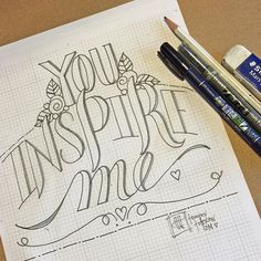 You Inspire me~~ @togetherweletter #handlettering #lettering #letteringwithtombow