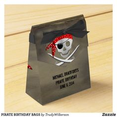 PIRATE BIRTHDAY BAGS FAVOR BOX Birthday Bag, Pirate Birthday, Pirate Party Invitations, Favor Boxes, Party Hats, Corporate Events, Pirates, Card Stock, Favors