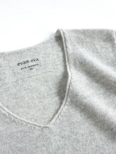 seamless cashmere V neck pullover