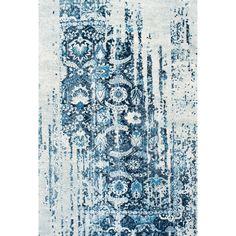 nuLOOM Distressed Vintage Faded Persian Blue Rug (5' x 8')