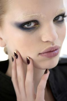 Nail art and black eyeshadow