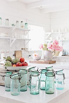 Vintage French Canning Jar  Dreamy Whites