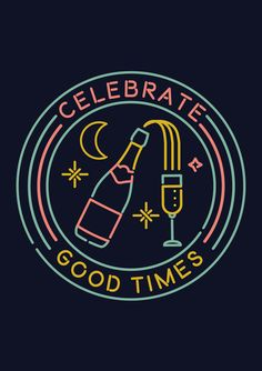 A series of greetings card designs featuring neon signs illustrations. Dove Pictures, Celebrate Good Times, Tee Shirt Designs, Lettering, Neon Lighting, Illustrators, Screen Printing, Greeting Cards, Behance