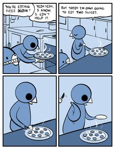 """A coworker just sent me this in an email with the subject line """"Accurate Depiction of Amanda at Dinner Time."""""""
