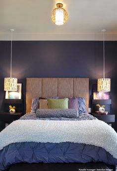 Love the wall color and headboard
