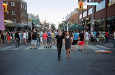 Toronto is celebrating Pride this week. The major events are centred in the Church Wellesley Village - with parts of Wellesley Avenue and Church St. Major Events, Niagara Falls, Toronto, Street View, History, City, Celebrities, Wallpaper, Projects