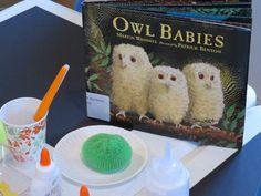Painting owl babies by Teach Preschool