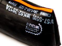 Federmäppchen - Mäppchen aus Fahrradschlauch orange - ein Designerstück von ReCycling-Products bei DaWanda