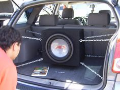 Alpine Type-R Sub In Suspended Enclosure