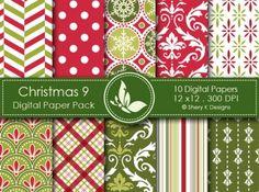 Christmas 9 Digital Paper Pack