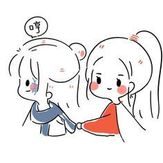 Chibi Girl Drawings, Kawaii Drawings, Easy Drawings, Cute Little Drawings, Cute Couple Drawings, Simple Anime, Chibi Sketch, Cute Love Gif, Journal Design