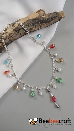 Southwest Lariat Necklace – Tutorial by Rena Klingenberg -… – DIY Necklace Jewelry Making Tutorials, Jewelry Making Beads, Wire Jewelry, Jewelry Crafts, Beaded Jewelry, Yoga Jewelry, Jewellery, Necklace Tutorial, Diy Necklace