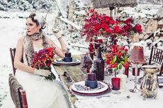 Winter Wedding Decor By Rachel A. Clingen