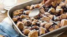 Pillsbury® Grands!® refrigerated blueberry biscuits put a fruity twist on this breakfast favorite.