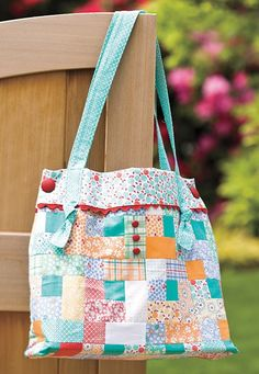 Darned Cute Fabric Tote Purse Bag Kit Thirties by acquiltfabric, $23.50