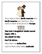 cute story to help remember names of continents!