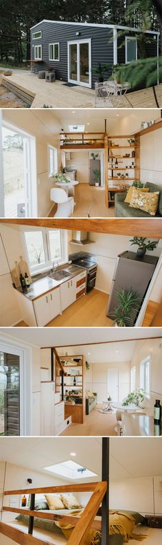 caravan design 600738037783810715 - Cherry Picker Tiny House by Build Tiny Built by New Zealand's Build Tiny, the Cherry Picker Tiny House is an overwidth custom tiny home that will be used as a guesthouse. Tiny Houses For Rent, Modern Tiny House, Tiny House Living, Tiny House Design, Small House Plans, Little Houses, Modern House Design, Small Houses, Tyni House