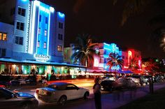 Miami's Art Deco District, where you can dine or shop in style while enjoying the area's colorful architecture
