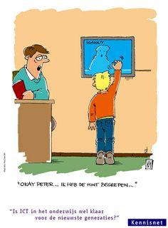 Cartoon: Is ICT in het onderwijs wel klaar voor de nieuwste generaties?