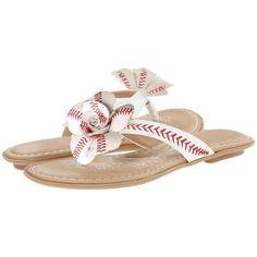 """Baseball """"The Slugger"""" Flip Flops"""