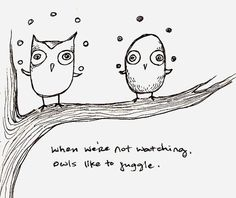 owls like to juggle.