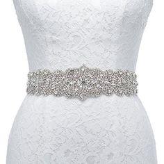 Remedios Exquisite Sash Rhinestone Wedding Bridal Belt for Bride Bridemaid Party DressBlush Pink