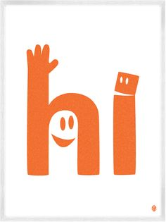 Hi print by: Christopher David Ryan; I love how the letters look like they are speaking and waving! Design Art, Logo Design, Graphic Design, Typography Design, Lettering, Cricut Creations, All Print, Print Print, Print Logo