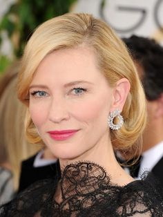 GOLDEN GLOBES 2014 4th #besthairdo holywood diva Cate Blanchett with this fake bob, sofisticated and perfect.