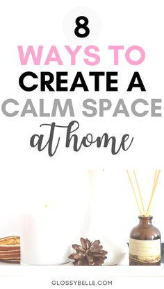 Being in an environment where you feel relaxed  at peace is important in order to be productive and happy. Here are 8 ways to create a more calm  relaxing space in your home or office so you can relieve anxiety and feel happier, less stressed, and more at peace. | plants | productivity | inspiration | motivation | anxious | stress-free | home decor | self-care | happiness | wellness tips | mental health | minimalism | aromatherapy | essential oils | anxiety | home organization | zen First Apartment Essentials, Essential Oils For Anxiety, Peaceful Home, Getting Rid Of Clutter, Blue Candles, Meditation Space, Aromatherapy Candles, Design Your Home, Joy And Happiness