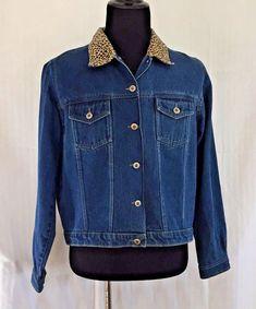 e77cd75507 Womens Carolina Blues Denim Jacket Size XL Embellished Patchwork Animal  Print  CarolinaBlues  BasicJacket  . Cute Clothes For WomenCarolina BlueJacket  ...