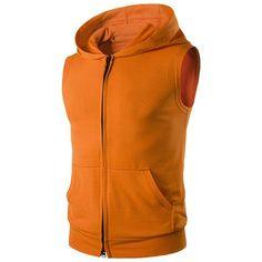 016a181900111 Summer Hoodies Men Slim Fit Sleeveless Thin Men s Hooded Hoodie Sweatshirt  with Big Pocket Cotton Solid Zipper Sportswear S-XXL