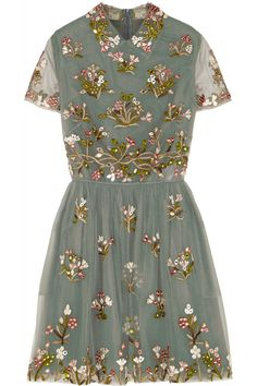 Valentino|Embroidered tulle mini dress| Someday !!!!