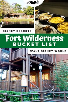 While planning a stay at Fort Wilderness Resort we got caught up in creating a Bucket List of everything we wanted to do! Best Disney Restaurants, Disney World Vacation, Disney World Resorts, Disney Vacations, Disney World Fort Wilderness, Fort Wilderness Resort, Disney Tips, Disney Parks, Walt Disney