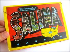 Vintage Salina Kansas Folder Postcards-USA by couturenicole Members of the Pacific Postcards Team #postcard #ephemera #antique #vintage #vintagepaper #Art #etsy #antiquepaper #collectible #antiquepostcard #vintagepostcard #PPT #PacificPostcardsTeam