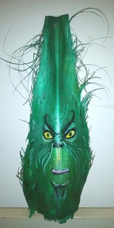 Painted Palm frond Grinch bt Seanaconda