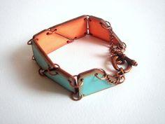 Geometric Bracelet , Wood Geometric Cuff ,Pastel Wood Bracelet,  ,Geometric Jewelry