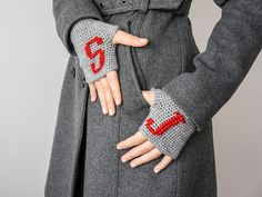 Personalized Gifts  Gloves Personalized Fingerless  by Sudrishta