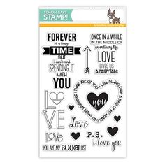 Simon Says Clear Stamps LOVE AND QUOTES SSS101688 Hey Love