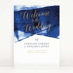 Navy And Gold 'Grace' Wedding Welcome Sign - room decorations Wedding Welcome Signs, Wedding Signs, Our Wedding, Chalkboard Welcome Signs, Peckforton Castle, Navy Blue And Gold Wedding, Mr Mrs Sign, Room Signs, Save The Date