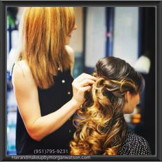 *Hair and Makeup By Morgan Watson*  Morgan's expertise includes special occasion hairstyling and airbrush makeup or in salon services of: highlights, cuts, color, and styling. Creating a flawless bridal or special events look, I work close with my bridal parties and clients to make certain you look stunning and beautiful on your big day! Please call and schedule your appointment or bridal preview.  http://www.hairandmakeupbymorganwatson.com/