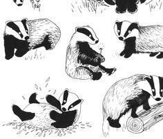 Badgers Playtime fabric by jo_clark on Spoonflower - custom fabric