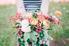 use of berries in bouquet