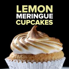 Lemon Meringue Cupcakes - zesty & fresh cupcakes with a surprise liquid centre & fluffy meringue topping - please watch the video for a full tutorial #baking...x