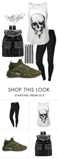 """skull"" by nattaca on Polyvore featuring NIKE and MICHAEL Michael Kors"