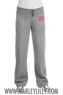 Monogrammed Ladies Sweatpant | Preppy Gym Wear | Marley Lilly