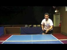 Backhand Topspin return of long sidespin serve by Pingskills