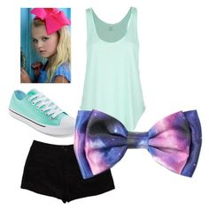 """Inspired by jojo siwa"" by sarahpicarelli-1 ❤ liked on Polyvore"