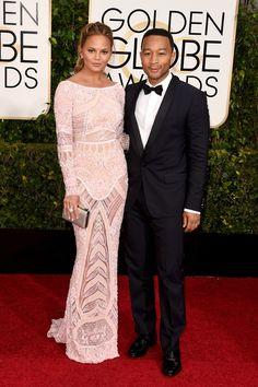 Chrissy Teigen | Golden Globes 2015 Red Carpet | Harper's Bazaar